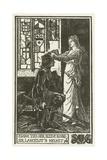 Elaine Ties Her Sleeve Round Sir Lancelot's Helmet