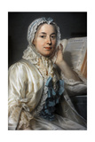 Madame Ferrand Meditating on Newton  1753