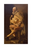 Hurdy-Gurdy Player with Bag