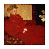 Woman in Red  Sitting; Femme En Rouge Assise  C1892