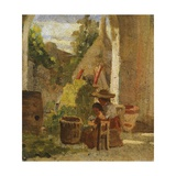 Rustic Loggia  Country Study Triptych  1861
