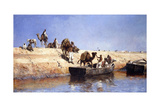 An Embarkment of Camels on the Beach at Sale  Maroc  1880
