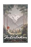 Poster Advertising Interlaken as a Holiday Destination  C1930