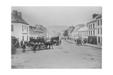 Passenger Carts in the Main Street of Kenmare  Ireland  1890s
