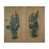 Two Sketches of David Garrick in Character  18th Century