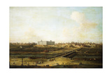 Madrid and the Palacio Real from the West Bank of the Manzanares  1752-53