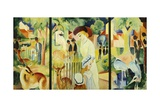 Great Zoological Garden  Triptych  1912