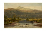 Scene on the Llugwy with Moel Siabod in the Distance  1870