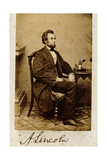 A Signed Carte-De-Visite Photograph of Abraham Lincoln  1861
