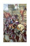 Edward V Rides into London with Duke Richard  1483