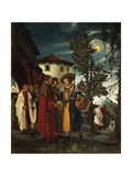 St Florian Taking Leave of the Monastery  1530