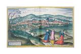 Map of Claudiopolis  from 'Civitates Orbis Terrarum' by Georg Braun