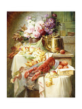 Still Life with a Lobster and Assorted Fruit and Flowers