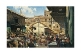 Old Market in Florence  1882-1883