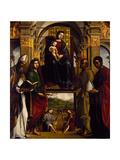 Madonna Enthroned with Saints or Pala Ghedini  1497