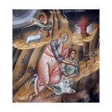 Abraham Offering Isaac for Sacrifice  Cretan School
