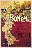 Poster for La Boheme  Opera by Giacomo Puccini  1895