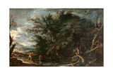 Landscape with Mercury and the Dishonest Woodman  C1650