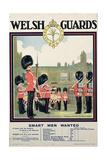"""Welsh Guards - Smart Men Wanted""  Recruitment Poster  1919"