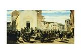 Tuscan Artillery in Montechiaro  1860