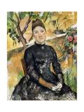 Madame Cezanne in Greenhouse  1891