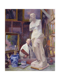 Ernest Renoux in His Studio  50  Rue Saint-Didier