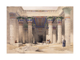 Grand Portico of the Temple of Philae - Nubia  1842-1849