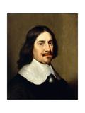 Portrait of a Gentleman  Bust Length  Wearing Black