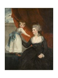 The Honourable Frances Courtenay  Lady Honywood and Her Daughter  1784
