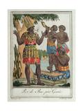 King of Bar  Near Gorée  Senegal  from Costumes De Différents Pays  1796