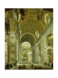 Interior of St Peter's Basilica  1754