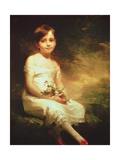 Little Girl with Flowers or Innocence  Portrait of Nancy Graham