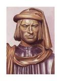 Terracotta Bust of Lorenzo De Medici by Artist Andrea Verrocchio