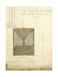 Design for the Order Desk Chair  Shown in Elevation and Plan  1904