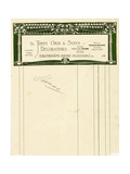 Stationery Design for John Orr and Sons  Glasgow  C1894-1898