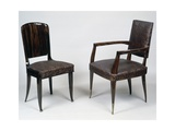 Art Deco Style Armchair and Chair  1928-1930