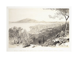View from the Castle Hill  Looking Towards Monte Skopo  Zante  1863