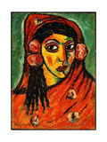 Spanish Girl with a Red Scarf; Spanierin Mit Rotem Schal  C1912