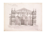 Palermo Cathedral  Study of the Entrance Porch  1891