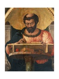 St Luke at His Desk  Detail from Altarpiece of St Luke