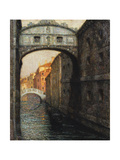 Venice - the Bridge of Sighs; Venise - Le Pont Des Soupirs  1914