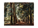 Avenue in Sakrow with Two Riders; Allee in Sakrow Mit Zwei Reitern  C1923