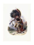 Pehriska-Ruhpa  Moennitarri Warrior in the Costume of the Dog Danse  1840