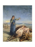 Cossack Girl Finding Body of Mazepa  1851