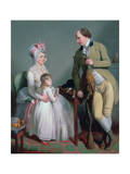 Mr and Mrs Custance of Norwich and their Daughter Frances  C1786