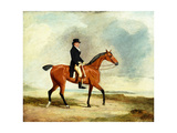 Francis Const on His Bay Hunter Riding Near the Sea  1806