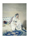 Portrait of Marie Fargues Wearing Turkish Clothing