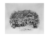 Open Air Mass at Bunlin Bridge  County Donegal  1867