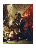 Soldier Holding Banner  Detail from Allegory of War