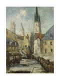 Rue De L'Epicerie Et La Cathedrale De Rouen  C1929